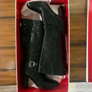 Coach Robyn Leather Heel Boots